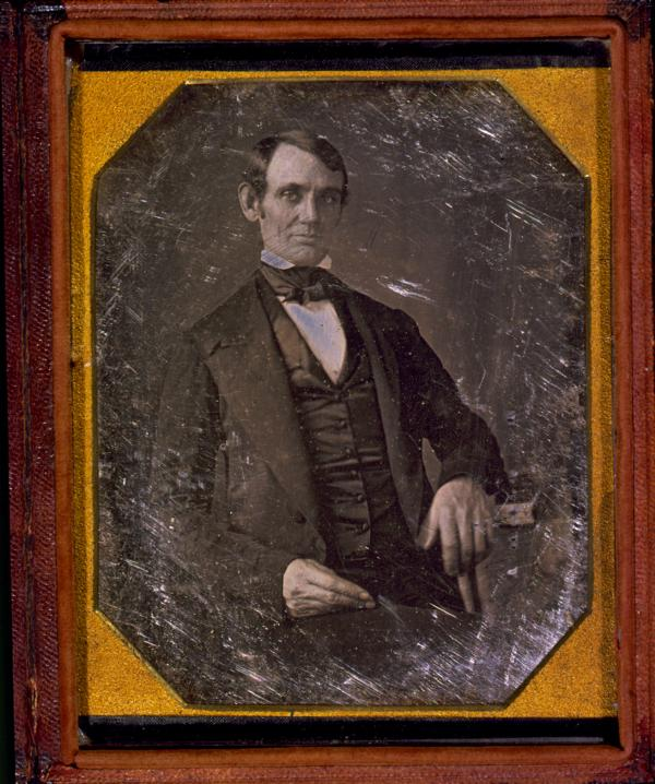The earliest known photograph of Lincoln, taken in 1845 or 1846, possibly during his term in Congress. Lincoln was elected to the U.S. House of Representatives in 1846 in the state of Illinois.