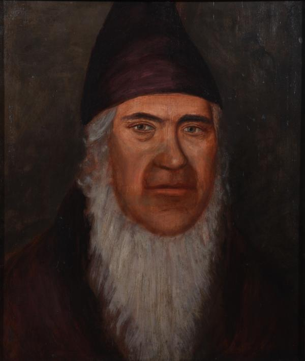 A portrait of George Rapp, founder of the Harmony Society.