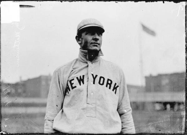 A portrait of pitcher Christy Mathewson in 1905.