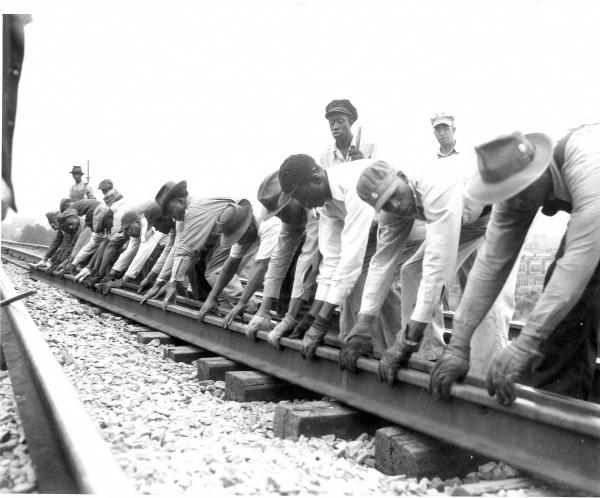 African American track workers