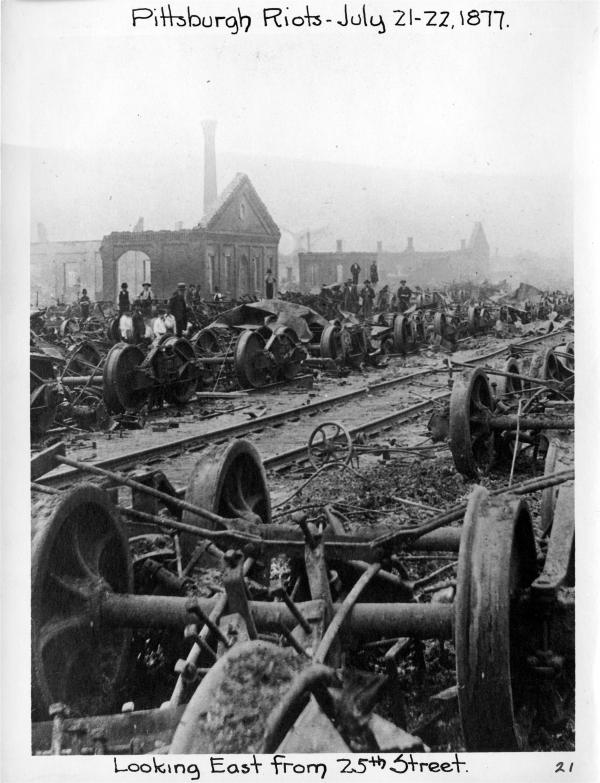 Image of 1877 Strike looking East from 25th Street.