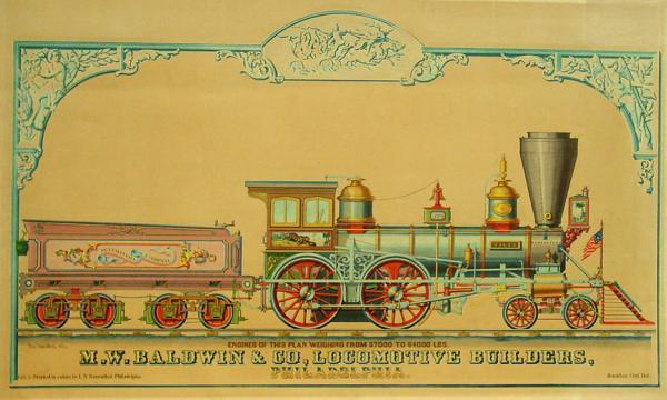 Baldwin Tiger, advertising the Baldwin company Locomotive builders.