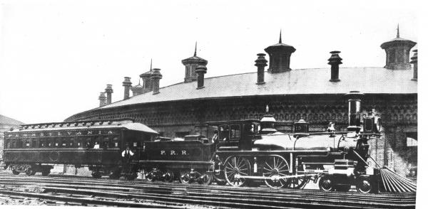 First Pennsylvania Railroad Train to use Westinghouse airbrake