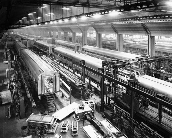 Interior view of the Budd Company Factory