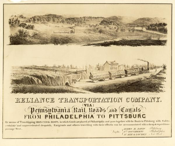 Reliance Transportation Co. lithograph