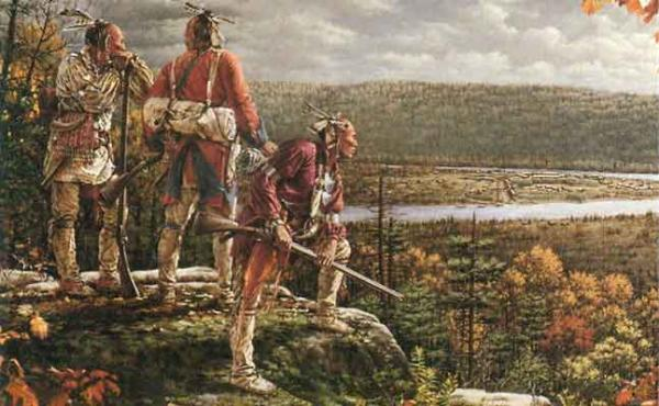 The British had promised to withdraw from the Ohio Country after they defeated the French, but instead constructed Fort Pitt and turned the land around it into settlements. This painting by Robert Griffing depicts the Indians looking down upon the fort and the beginnings of the city of Pittsburgh, and realizing the British are not leaving, but instead are taking over.