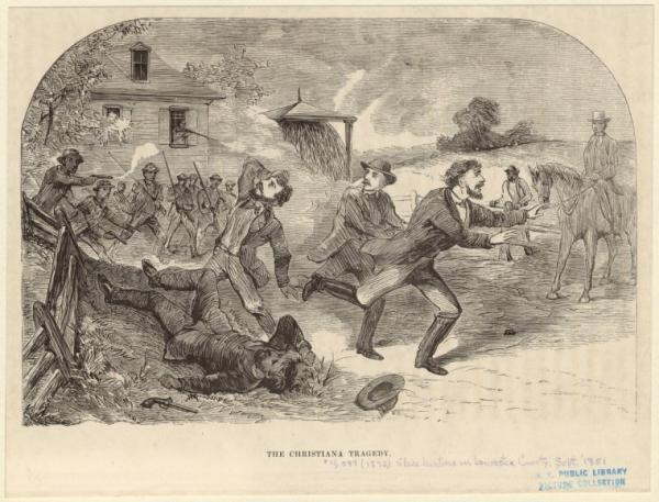 This engraving of the Christiana Riot appeared in William Still's book, The Underground Railroad, when it was published in 1872