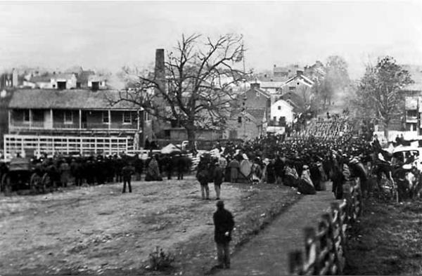 On November 19th, thousands of people proceeded through the streets of Gettysburg to attend the dedication ceremony for the National Cemetery.