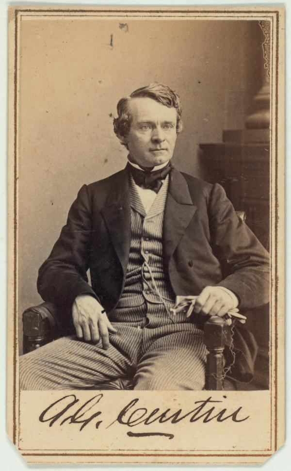 A photograph of Pennsylvania Governor Andrew Curtin, c. 1860.