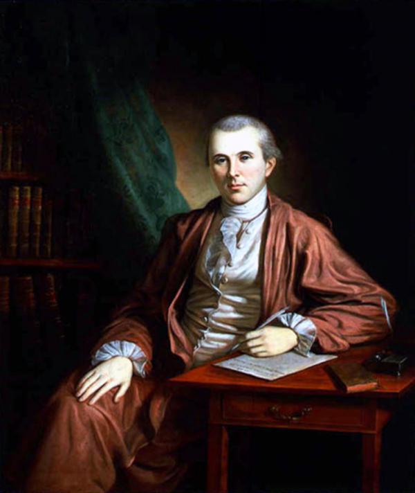 Portrait painting of Dr. Benjamin Rush.