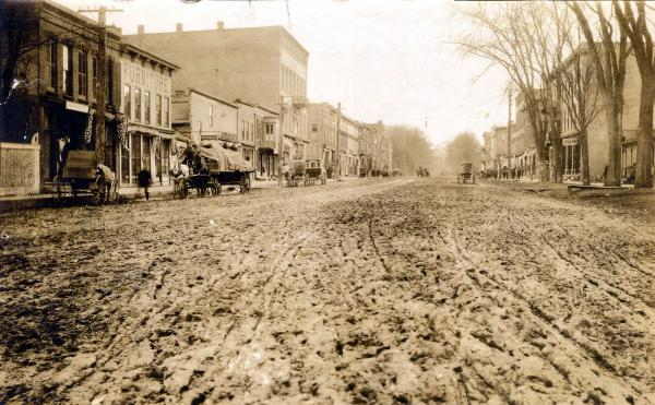 Image of Pinchott road before paving