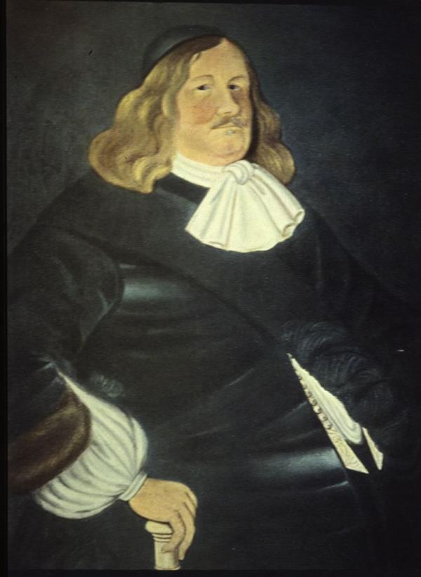 A portrait of Governor Johan Printz.