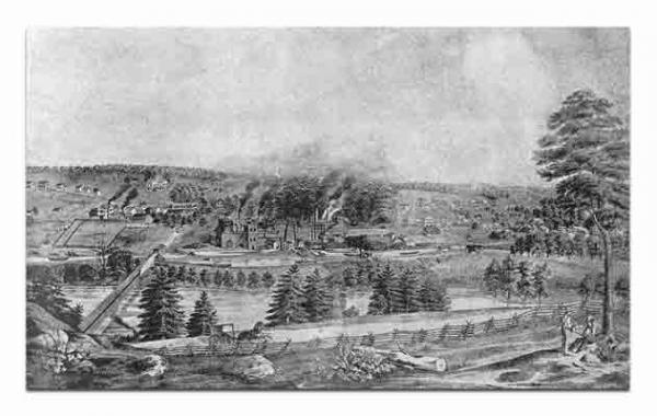 The town of Catasauqua, PA as it appeared in 1852, the year before it was incorporated.