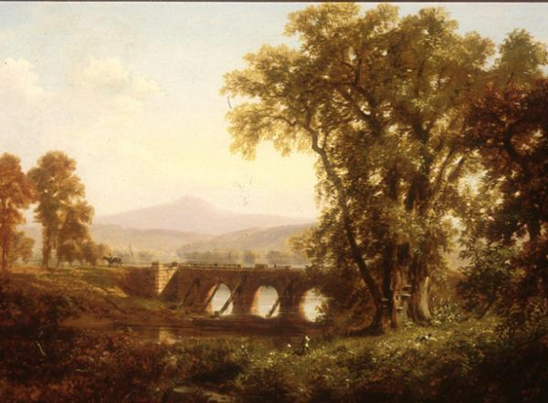 Aqueduct of the Pennsylvania Canal Below Harrisburg, PA, 1868, by Russell Smith. Oil on canvas.