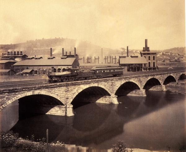 William Rau photograph of  <i>Stone Bridge at Johnstown </i>, 1891.