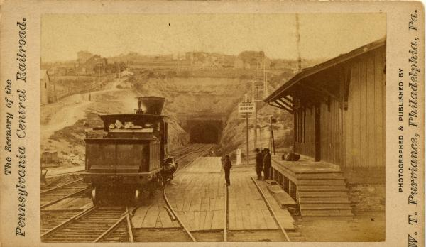 Stereoscope of a tunnel through the Alleghenies.