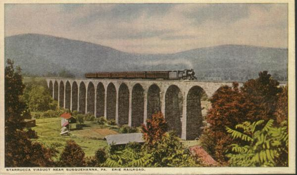 Color postcard of the Starrucca Viaduct.