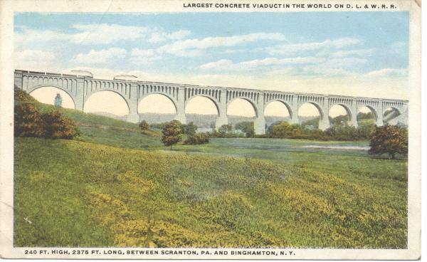 Tunkhannock Viaduct postcard