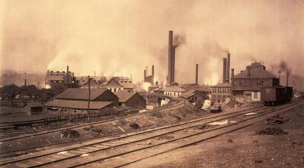Edgar Thomson Steel Works, Near Braddock's, 1891, by William Rau.