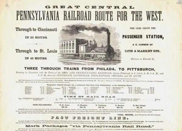 Great Central PA RR Route of the West advertisement