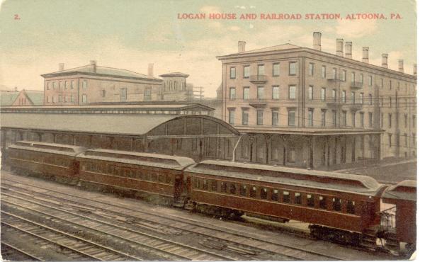 Logan House 1909 postcard