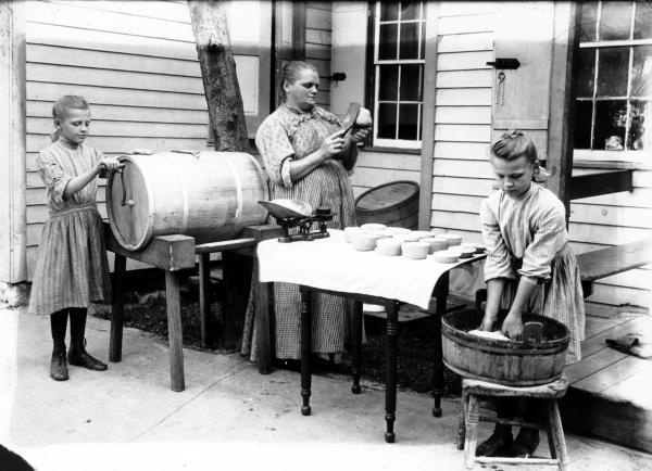 Fegley photo of women making butter.