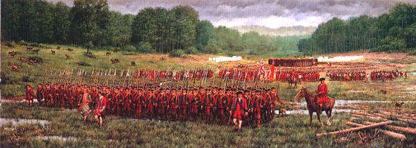 George Washington's troops at Fort Necessity capitulated to French forces in 1754.