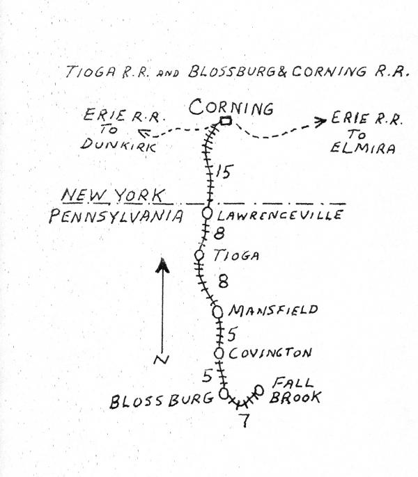 Map showing original line and extensions.