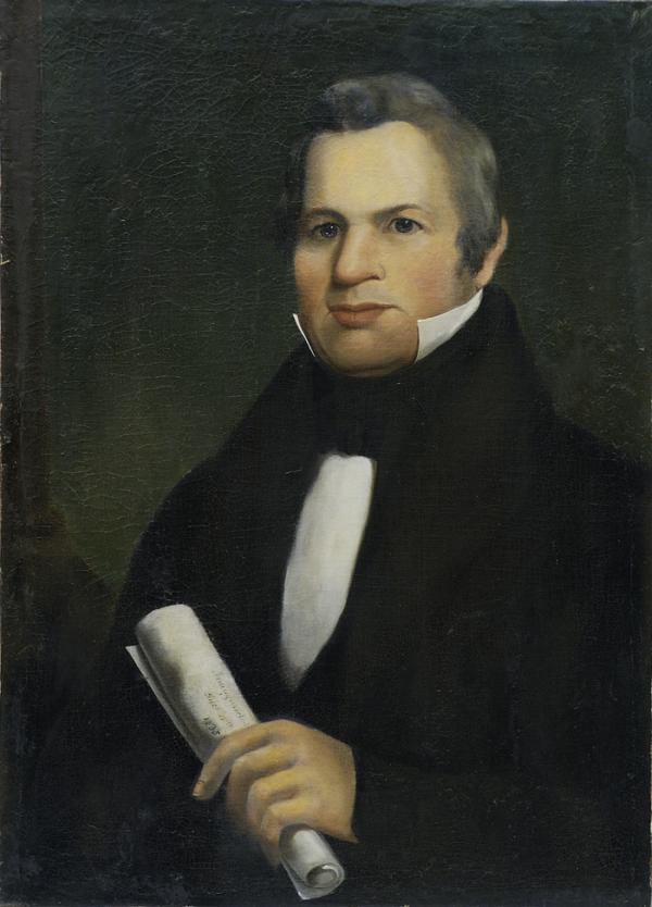 Oil on canvas of Governor Joseph Ritner, (December 15, 1835 - January 15, 1839), c. 1835, Unidentified Artist