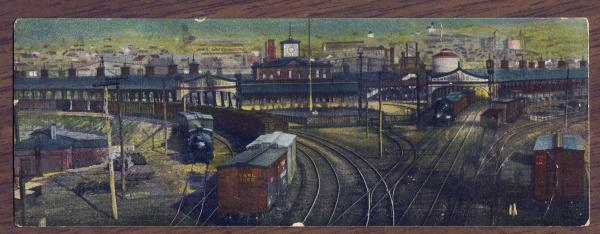 Outer Station at Reading (color postcard)