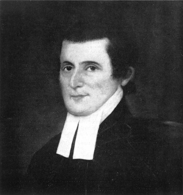 Black and white image of Rabbi Gershom Seixas.