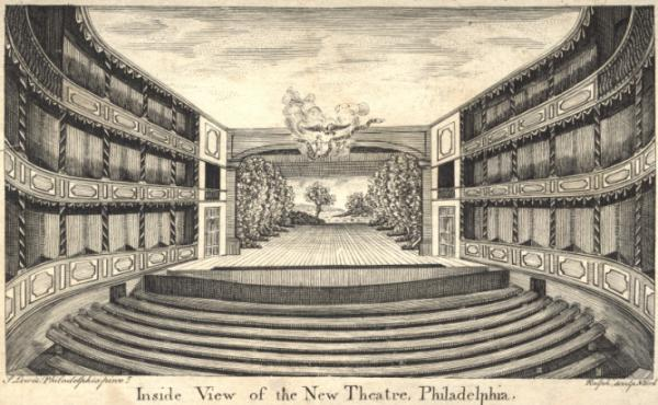 Inside view of the New Theatre, Philadelphia (Chestnut St)