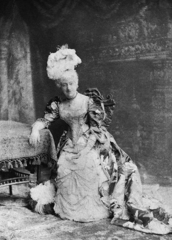 Louisa Drew in Costume as Mrs. Malaprop.