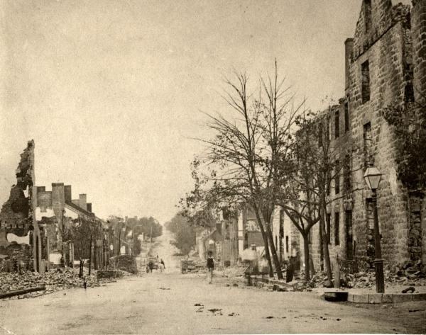 The town of Chambersburg after the burning.