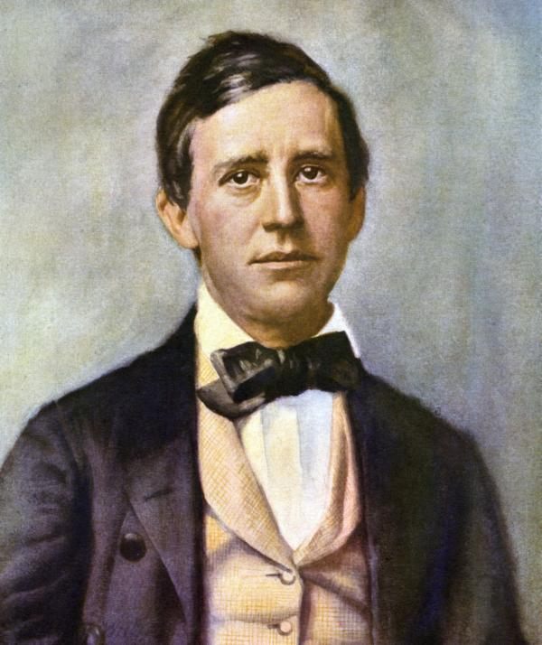 Head and shoulders painting of Foster wearing a jacket, vest and bow-tie.