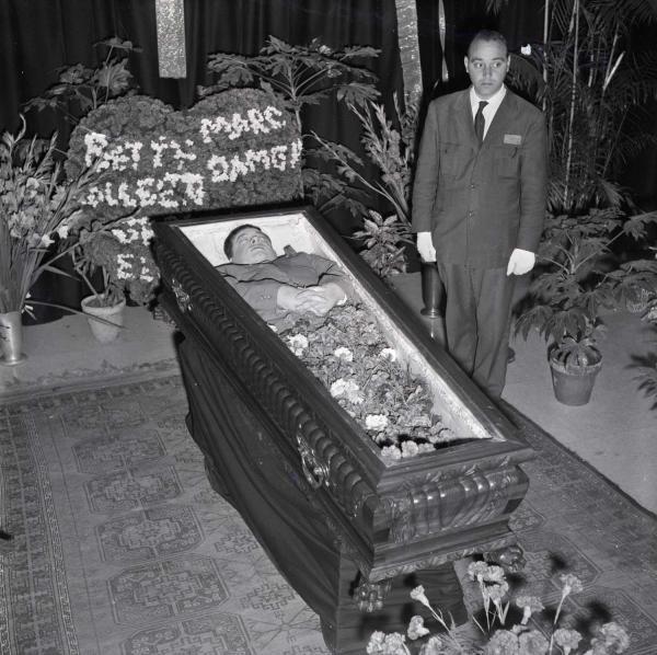 American Tenor Mario Lanza Lying in State.