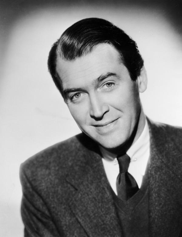 Head and shoulders portrait of James Stewart.