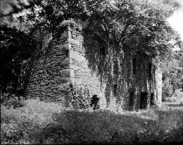 Black and white image of the furnace.