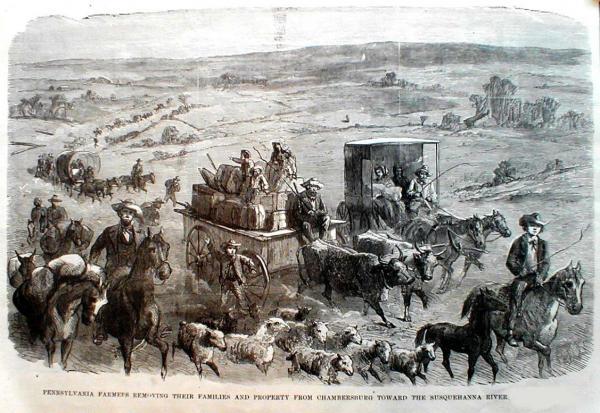 Fleeing the Confederate Invasion