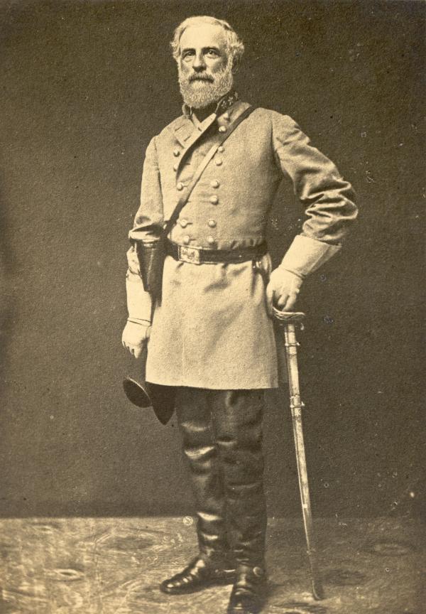 Robert E. Lee in battle dress.