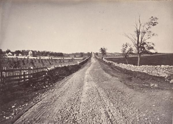 Valley Turnpike - view of road rebels took north from Winchester into Pennyslvania.
