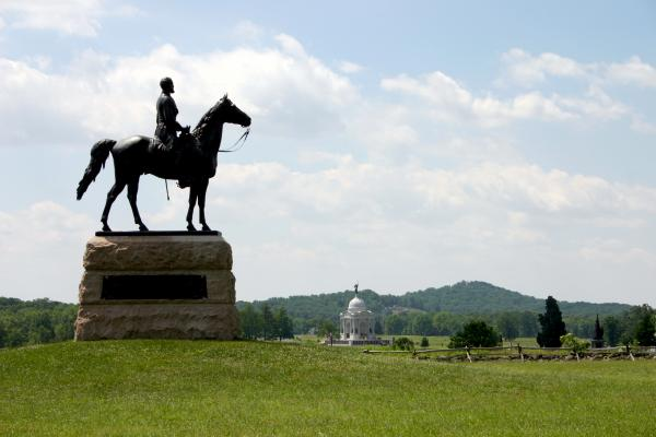 Pennsylvania Monument, Battlefield photograph
