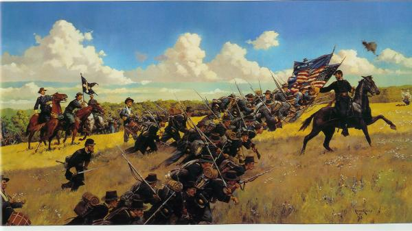 <i>Reynolds and the Iron Brigade,</i> by Keith Rocco.