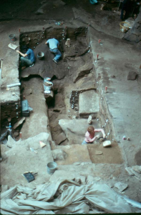 View of initial excavation trench, Meadowcroft.