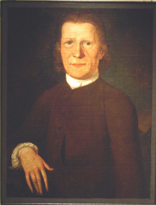 This unadorned oil on canvas portrait of Zeisberger captures the simplicity of Moravian dress and manners, as well as the earnestness of Zeisberger's character
