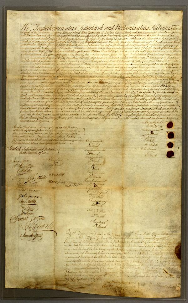 Walking Purchase Treaty, 1737.
