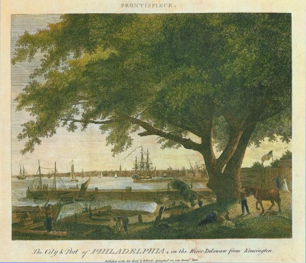 An image of the Port along the banks of the Delaware.