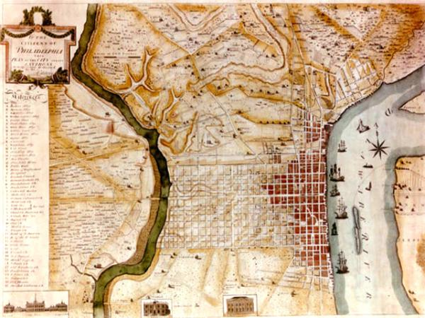 Map of Philadelphia, 1796.