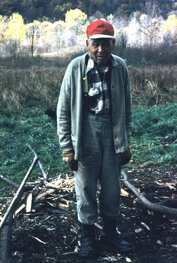 Chester Redeye, a resident of the Cornplanter Tract, circa 1950.