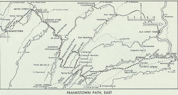 Map of Frankstown Path, East